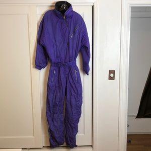 👀😍 1980's purple vintage inside edge snowsuit